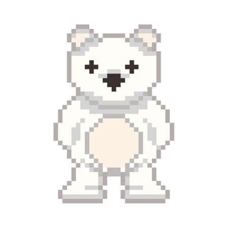 pixel art polar bear
