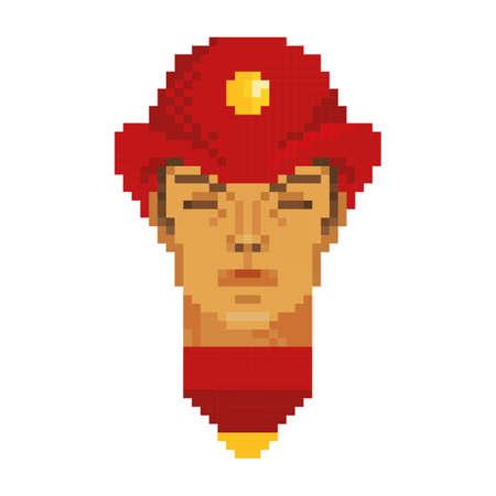 pixel art fireman