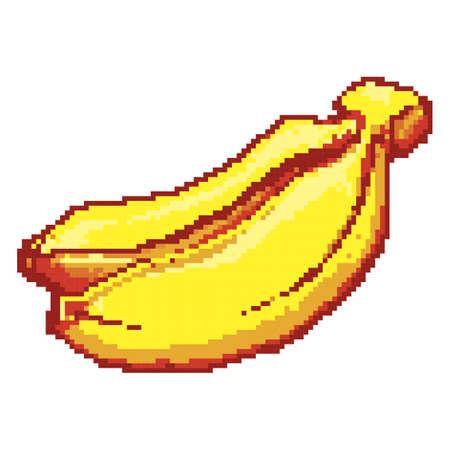 pixelated banana