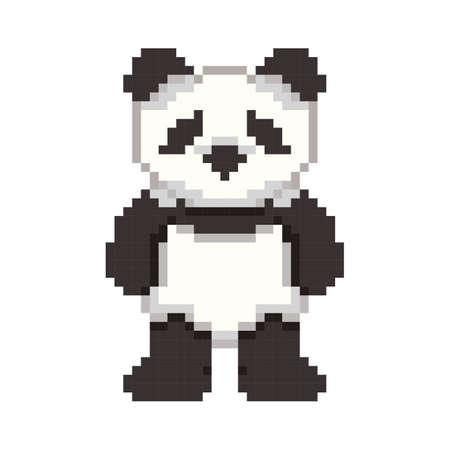 pixel art panda