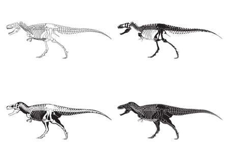 set van tyrannosaurus rex pictogrammen