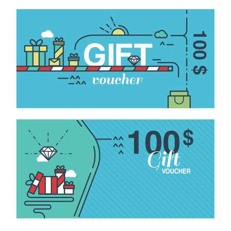 gift voucher concept Illusztráció