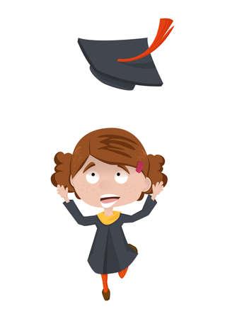 graduation concept Ilustrace