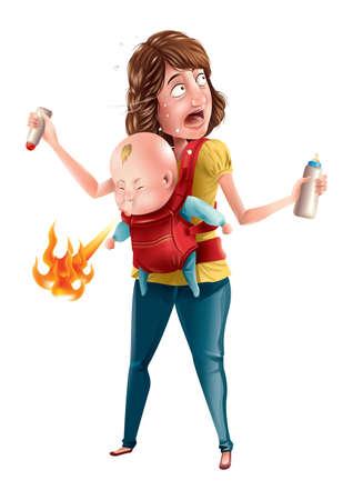 super baby die vuur uitademt