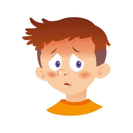 病気の少年 写真素材 - 79214057