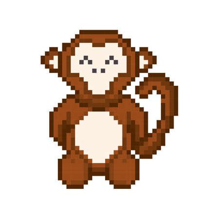 pixel art monkey