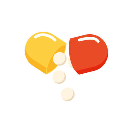 capsule and tablet pills Ilustrace