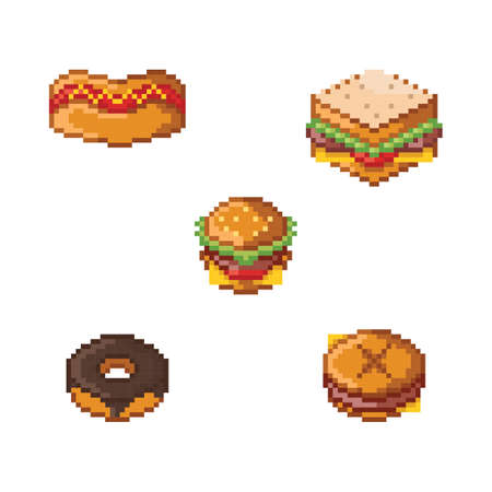 collection of fast food icons