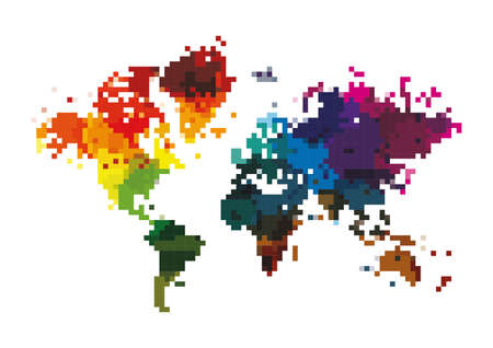 pixel art map Illustration