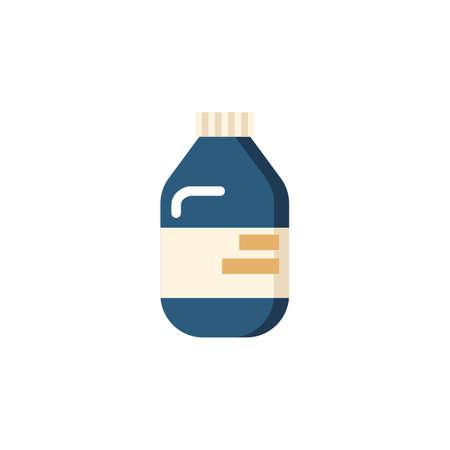 bottle of medication Ilustração
