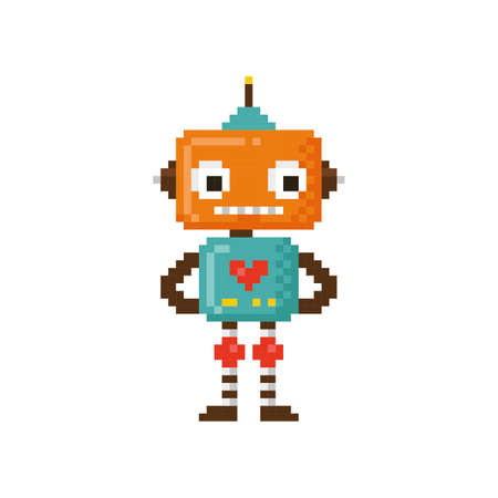pixel art robot