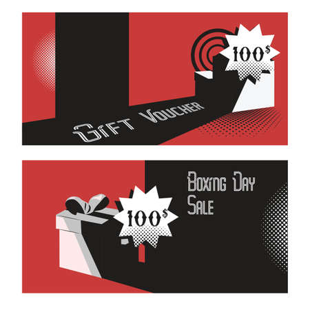 boxing day gift voucher concept