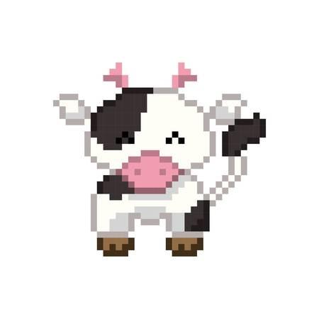 pixel art vache