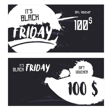 黒い金曜日ギフト券の概念