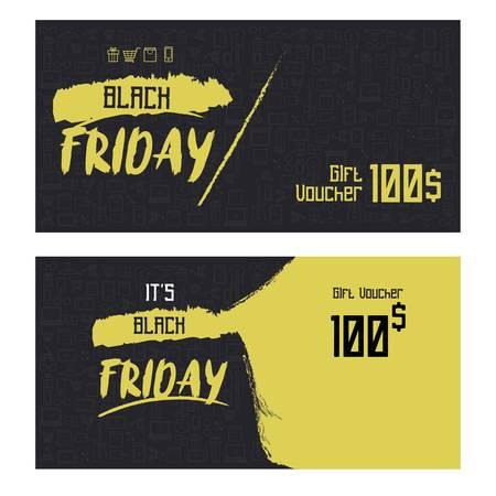 black friday gift voucher concept