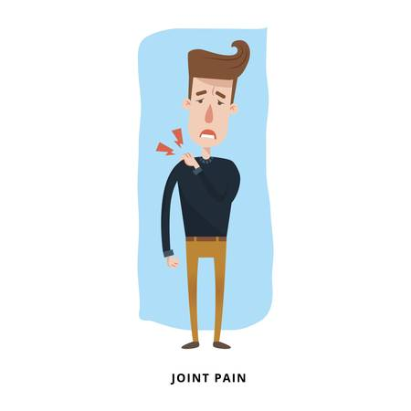 man with joint pain