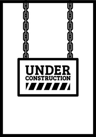 under construction template design Illustration