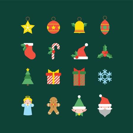 set van Kerst mis pictogrammen