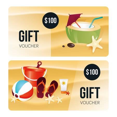 gift voucher design 向量圖像