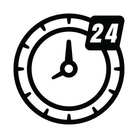 24 시간 시계 아이콘 일러스트