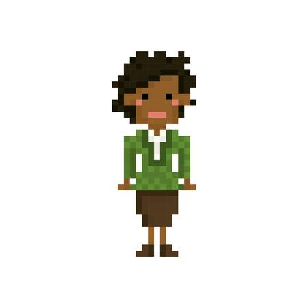 formalwear: pixel art woman Illustration