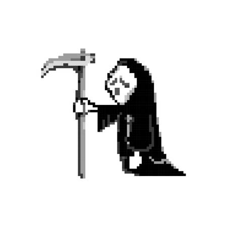 pixel art grim reaper Ilustrace