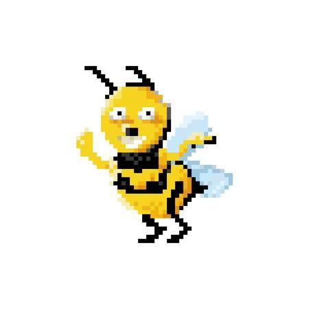 pixel art bee