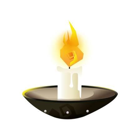 burning candle Ilustração