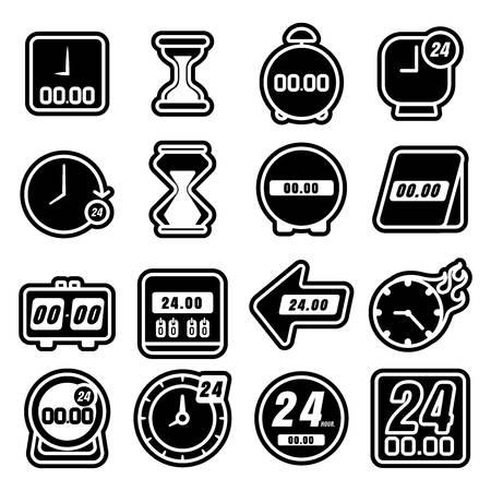 Verzameling van klok pictogrammen