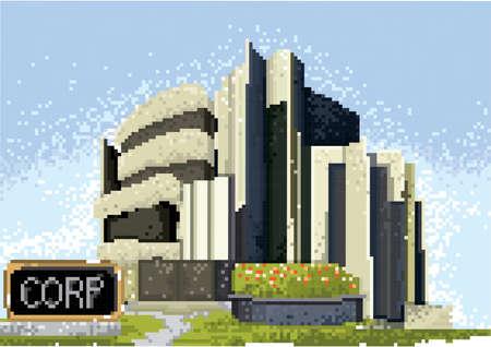 pixel art corporation Ilustracja