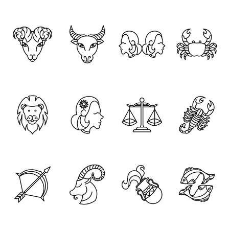 Zusammenstellung des Horoskops Standard-Bild - 79214302