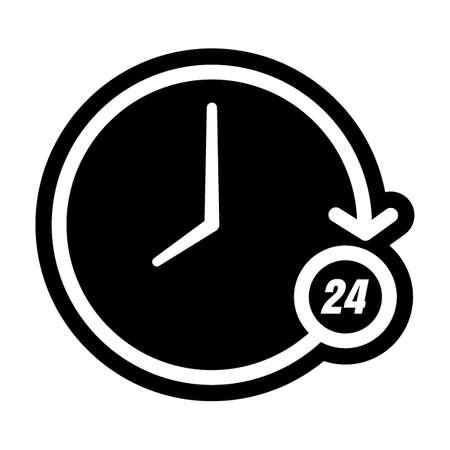 Icona orologio 24 ore Archivio Fotografico - 79214325