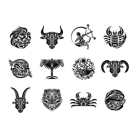 compilation of horoscope Stok Fotoğraf - 79214340