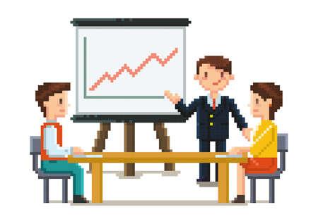 pixel art business meeting