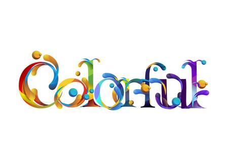 colorful lettering design Imagens - 79214352