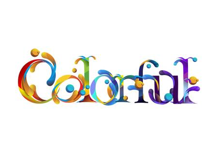 colorful lettering design