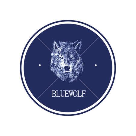 blue wolf Illusztráció