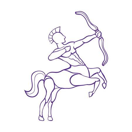 射手座  イラスト・ベクター素材