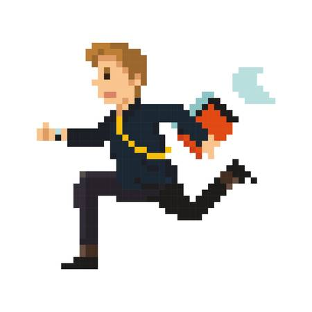 pixel art businessman Illustration