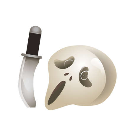 ghost mask and knife