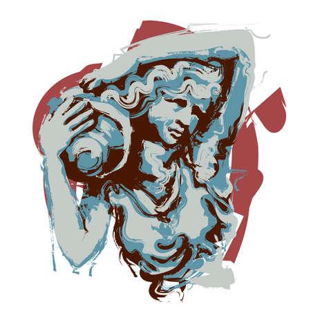 水瓶座  イラスト・ベクター素材