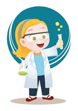 woman scientist Ilustrace
