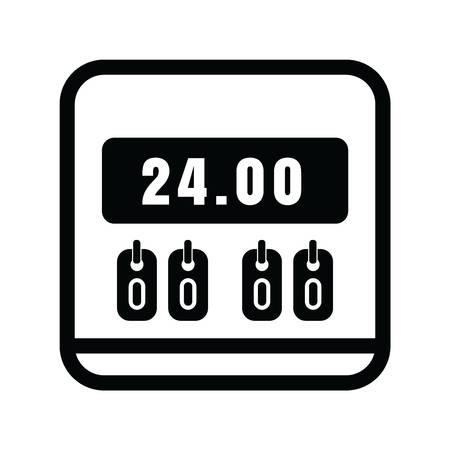 24 hour scoreboard icon Ilustração