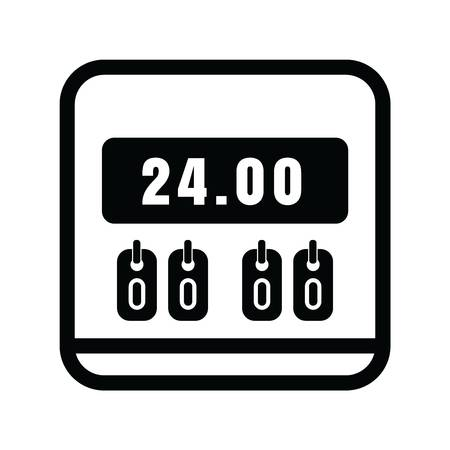 24 hour scoreboard icon Illustration