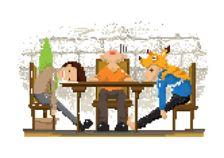 pixel art chill time