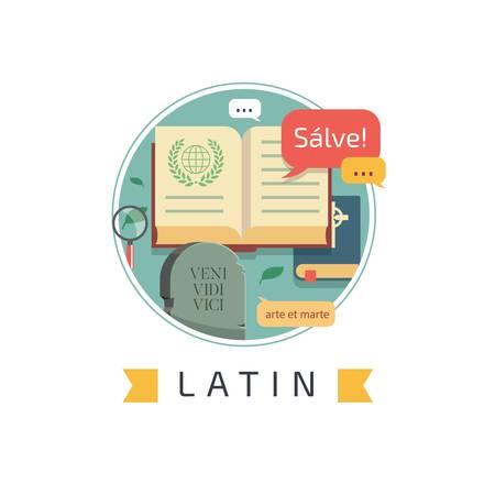 latin concept design Illustration