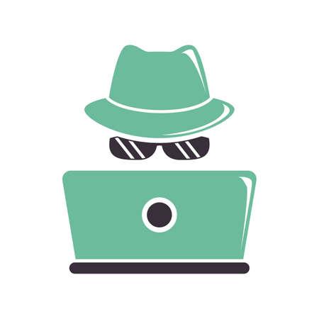 spy on the job Ilustrace