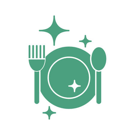 clean cutlery Иллюстрация