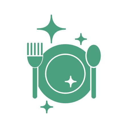 clean cutlery Illustration