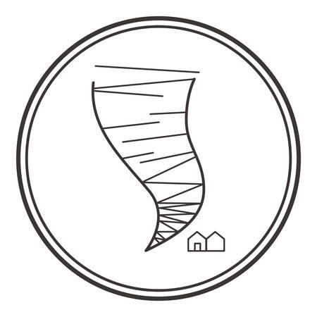 disaster: tornado Illustration